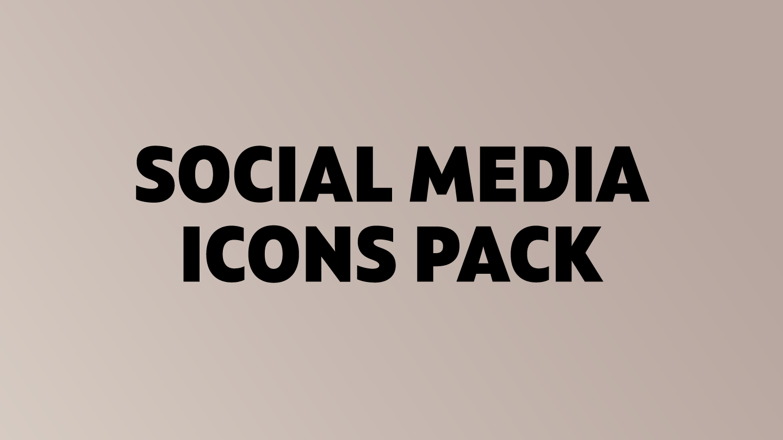 Social Media Icons Pack - Fontfabric™
